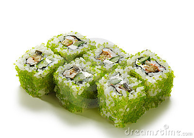 Green Flying Fish Roe Roll