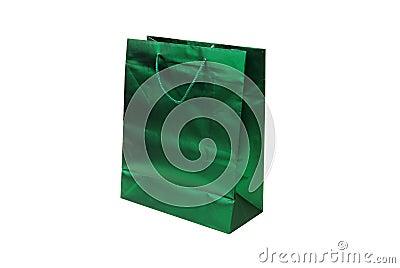 Green foil gift bag