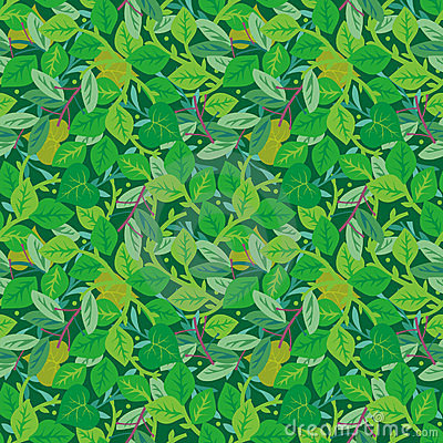 Easy tilable you see 4 tiles green foliage seamless repeat pattern