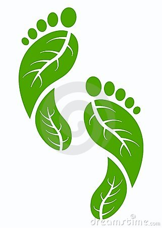 Free Green Foot Print Stock Photography - 17765402