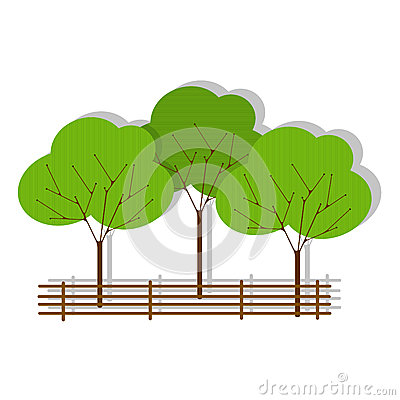 Green forest icon on white