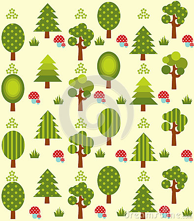 Green forest pattern