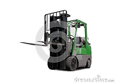 Green Fork-Lift Truck