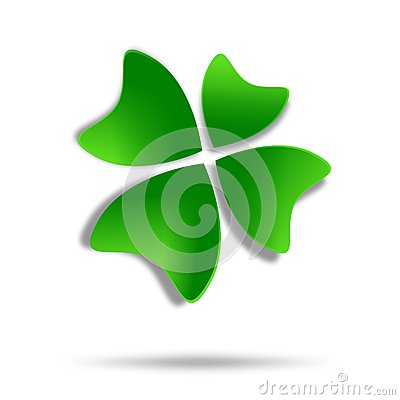 Green four-leaf clover logo design