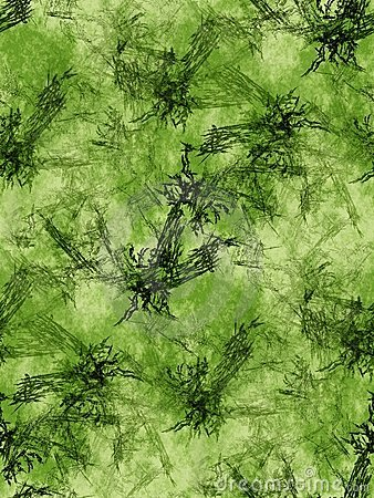 Green fractals background