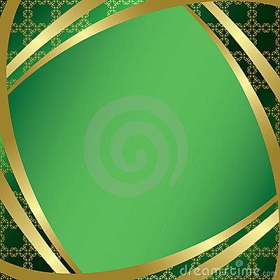 Green frame with center gradient - vector