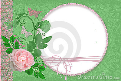 Green framework with roses