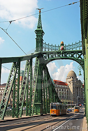 Green Freedom bridge, Budapest