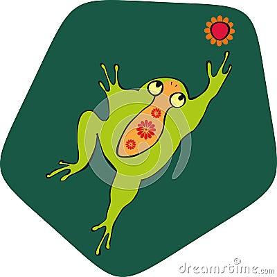 Green Frog Flower