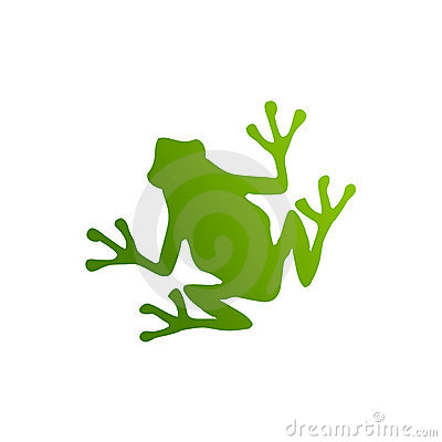 Free Green Frog Silhouette Stock Photos - 8772873