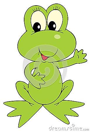 Green Frog (vector clip-art)