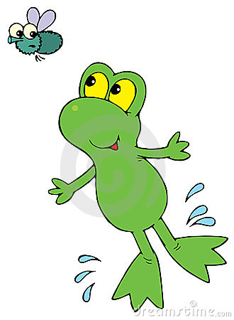 Green Frog (vector clip-art)