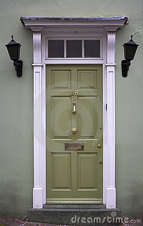 Free Green Front Door Royalty Free Stock Photo - 1207885