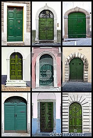 Green front doors - Tuscany