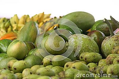 Green fruit in Seychelles