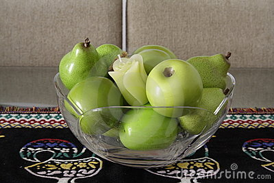 Green Fruits over a Portuguese Placemat