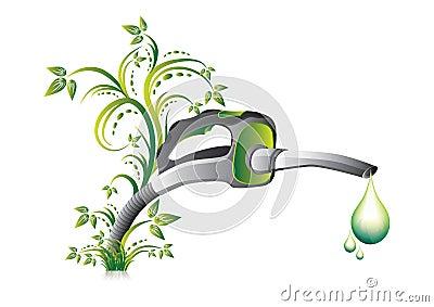 Green fuel pump nozzle