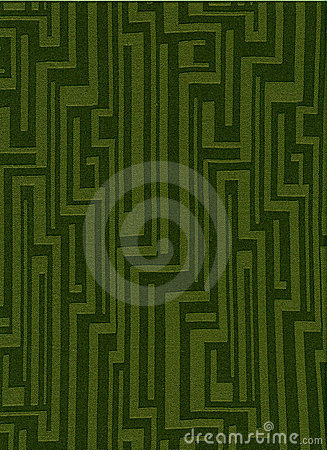 Green funky vintage fabric