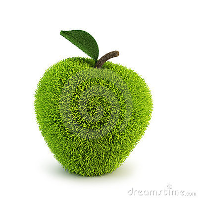 Green fur apple