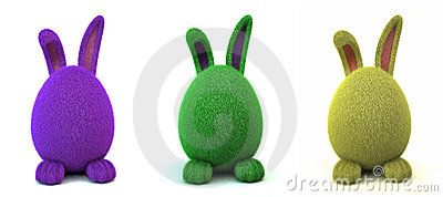 Green Furry Egg Bunny
