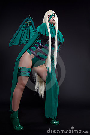Green fury cosplay costume anime character