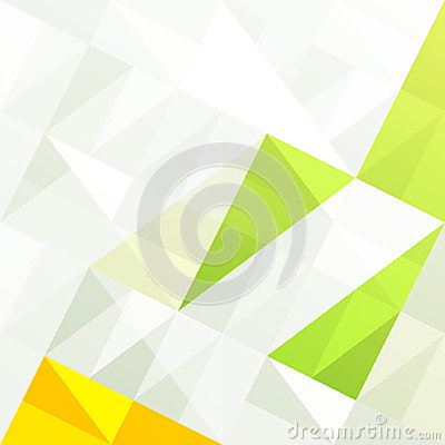 Green gamut geometric abstract background