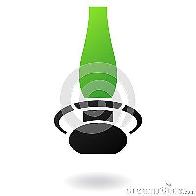 Green gas lamp