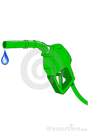 Green gas pump nozzle