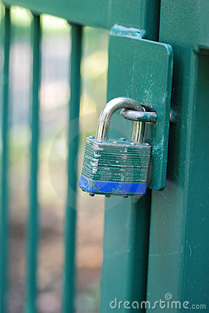 Green Gate and Blue Bottomed Lock