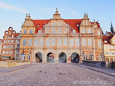 Green Gate in Gdansk, Poland Editorial Stock Photo