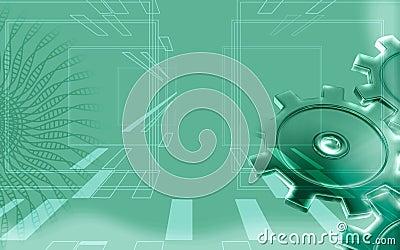 Green gear background