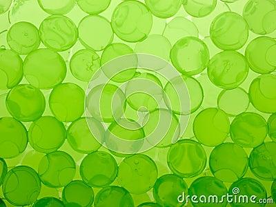 Green gel spheres