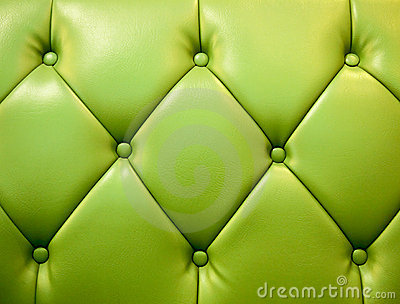 Green genuine leather upholstery