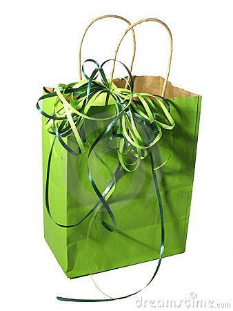 Free Green Gift Bag Stock Images - 80624