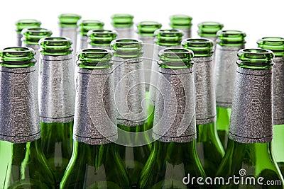 Green Glass Beer Bottles