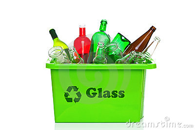 ... Free Stock Photography: Green glass recycling bin isolated on white