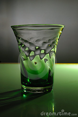 Green Glass Still Life