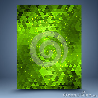 Green glitter geometric abstract background