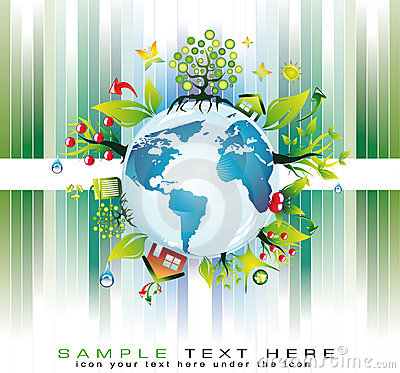 Green Global Nature Safety Background for  Eco Fly
