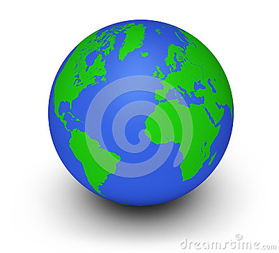 Green Globe Ecology Concept