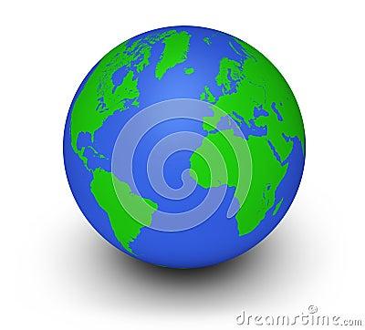Green Globe Ecology Concept