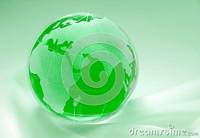 Green globe - europe, africa
