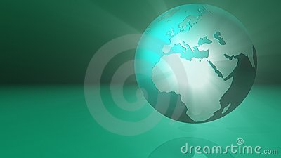 Green glowing globe
