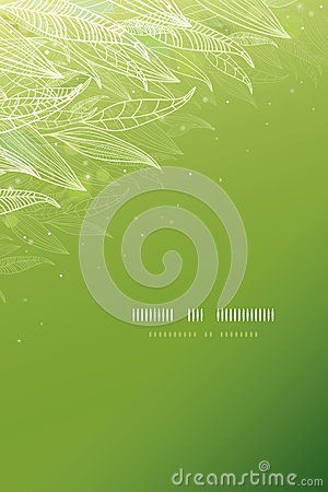 Free Green Glowing Leaves Vertical Template Background Royalty Free Stock Image - 32370006