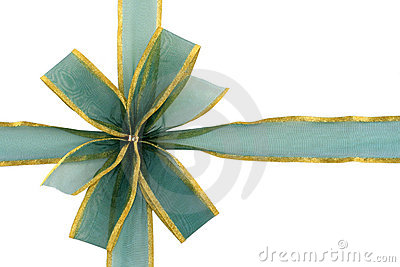 Green and Gold Gift Bow