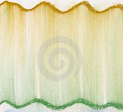 Green and gold  pastel abstract
