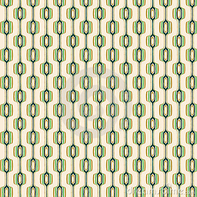 Green and Gold Retro Pattern