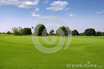 Green Golf grass landscape in Texas