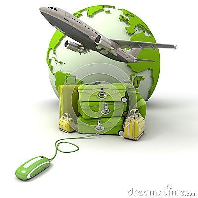 Free Green Golf Trip Flight Booking Stock Photo - 20953250