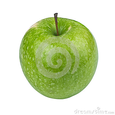 Free Green Granny Smith Apple On White Background Stock Images - 56521704